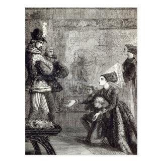 Primera reunión de Edward IV y de señora Elizabeth Tarjeta Postal