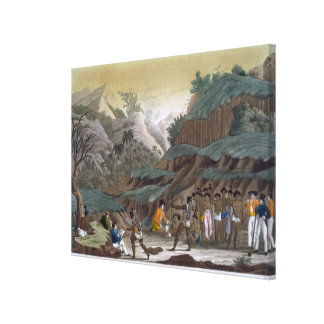 Primera reunión de exploradores franceses con el I Impresiones En Lona Estiradas