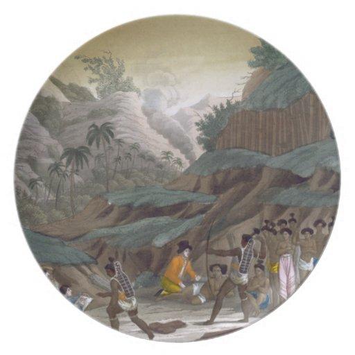 Primera reunión de exploradores franceses con el I Plato