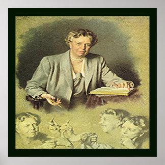 Primera señora Ana Eleanor Roosevelt Poster