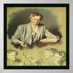 Primera señora Ana Eleanor Roosevelt Póster