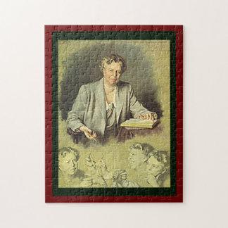 Primera señora Ana Eleanor Roosevelt Puzzle Con Fotos