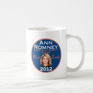 Primera señora de Ana Romney Taza