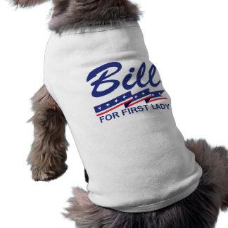 Primera señora de Bill Clinton Playera Sin Mangas Para Perro