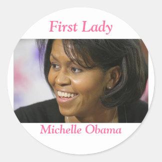 Primera señora de Michelle Obama Pegatina Redonda