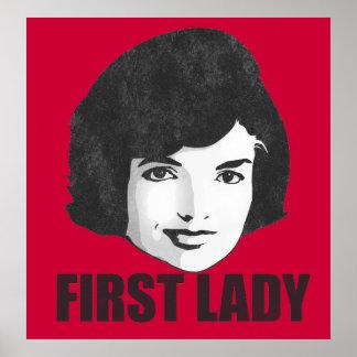 Primera señora Jackie Kennedy Poster