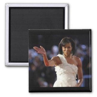 Primera señora Michelle Obama Imán Cuadrado