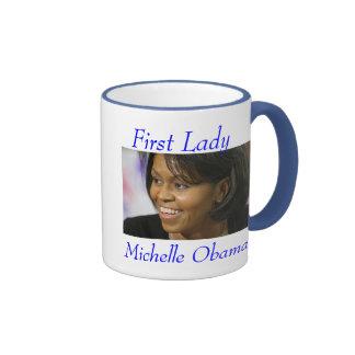 Primera señora Michelle Obama - modificada para Taza A Dos Colores