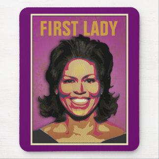 Primera señora Michelle Obama Mouse Pads