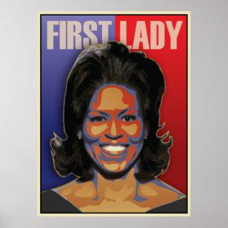 Primera señora Michelle Obama Póster