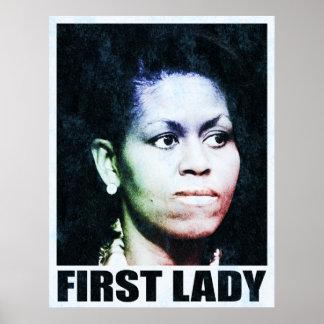 Primera señora Michelle Obama Poster
