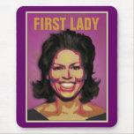 Primera señora Michelle Obama Tapete De Ratón