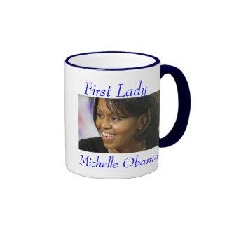 Primera señora Michelle Obama Taza A Dos Colores