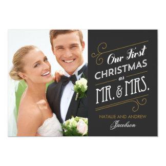 """Primera tarjeta casada de la foto del día de invitación 5"""" x 7"""""""