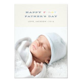 """Primera tarjeta colorida del día de padre - marina invitación 5"""" x 7"""""""