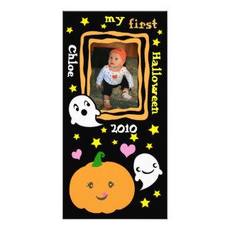 Primera tarjeta de encargo de la foto de Halloween Tarjetas Fotográficas Personalizadas