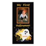 Primera tarjeta de encargo de la foto de Halloween Tarjetas Fotográficas