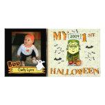 Primera tarjeta de encargo de la foto de Halloween Tarjeta Fotografica