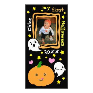 Primera tarjeta de encargo de la foto de Halloween Tarjeta Personal Con Foto