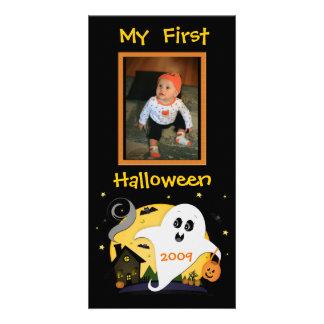 Primera tarjeta de encargo de la foto de Halloween Tarjetas Fotograficas