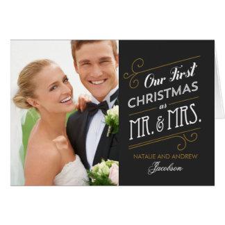 Primera tarjeta de felicitación casada del día de