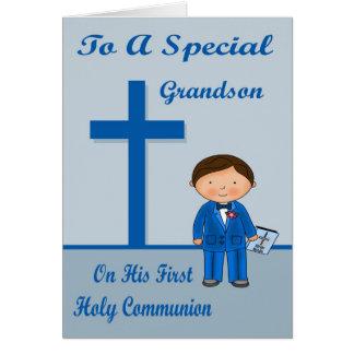 Primera tarjeta de felicitación de la comunión de