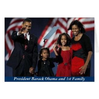 Primera tarjeta de felicitación de la familia de O