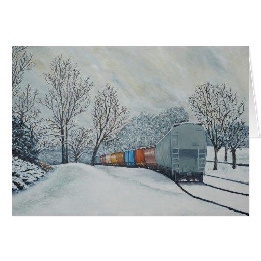 Primera tarjeta de felicitación de la nieve