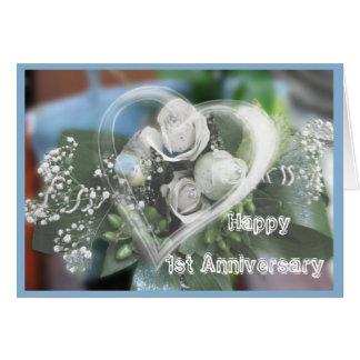Primera tarjeta de felicitación del aniversario