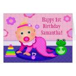 Primera tarjeta de felicitación del cumpleaños de