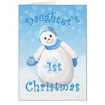 Primera tarjeta de felicitación del muñeco de niev
