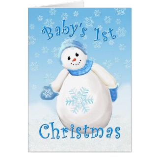 Primera tarjeta de felicitación del navidad del
