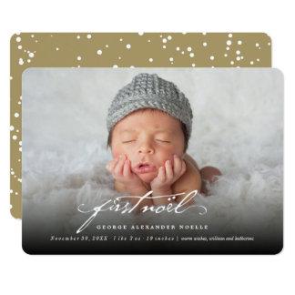 """Primera tarjeta de la foto de Noel del bebé Invitación 5"""" X 7"""""""