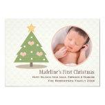 Primera tarjeta de la foto del árbol de navidad invitación personalizada