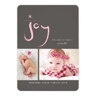 """Primera tarjeta de la foto del navidad del bebé invitación 5"""" x 7"""""""