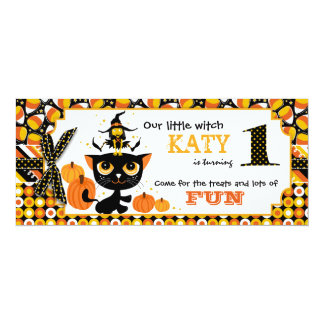 Primera tarjeta de la invitación del cumpleaños de