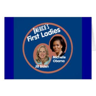 Primera tarjeta de las señoras de Michelle Biden