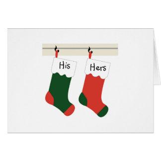 Primera tarjeta de Navidad de los recienes casados