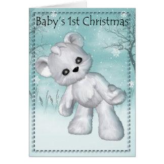Primera tarjeta de Navidad del bebé