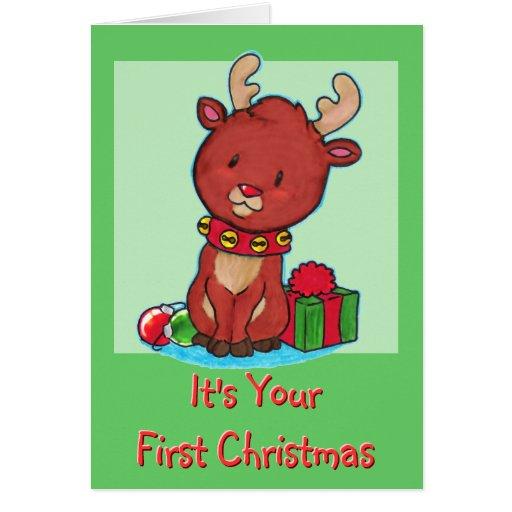 Primera tarjeta de Navidad del bebé Tarjeta De Felicitación