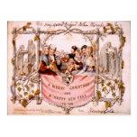 Primera tarjeta de Navidad, Inglaterra 1846 Tarjetas Postales