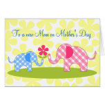 Primera tarjeta del día de madre de los elefantes