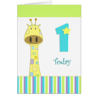 Primera tarjeta del muchacho del cumpleaños