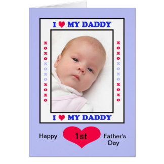Primera tarjeta feliz de la foto del día de padres
