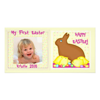 Primera tarjeta personalizada Pascua de la foto de Tarjeta Fotográfica