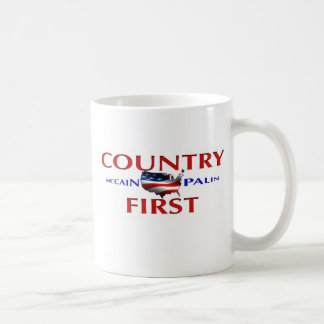 Primera taza de café de John McCain Sarah Palin de