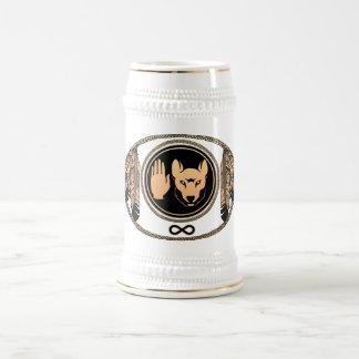 Primera taza de Stein del arte de la fauna de la