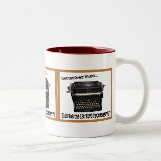 Primera taza del procesador de textos