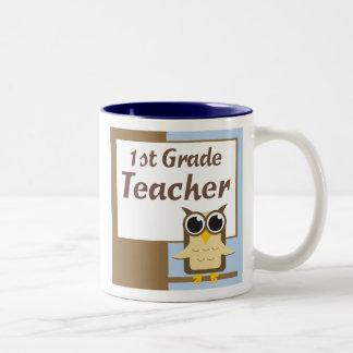 Primera taza del profesor de escuela primaria