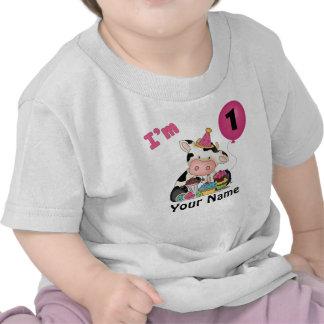 Primera vaca del cumpleaños de los chicas camiseta